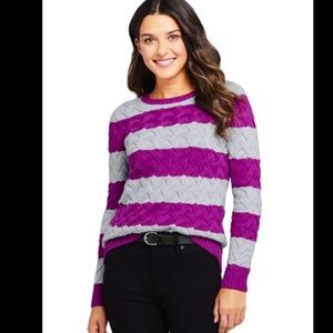 Cotton Cable Drifter Sweater Lands End